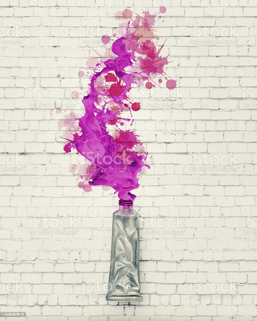 Paint tube royalty-free stock photo