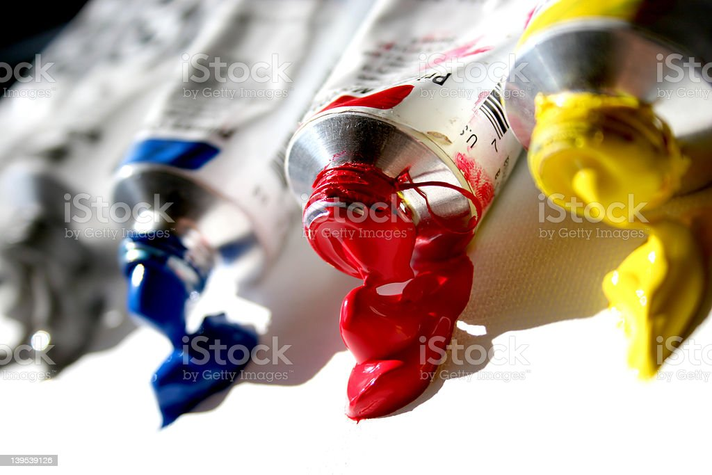 Paint Tubes royalty-free stock photo