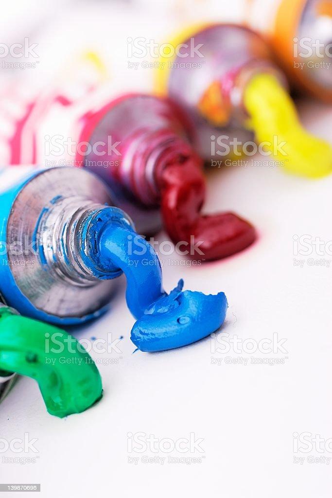 paint tubes royalty-free stock photo