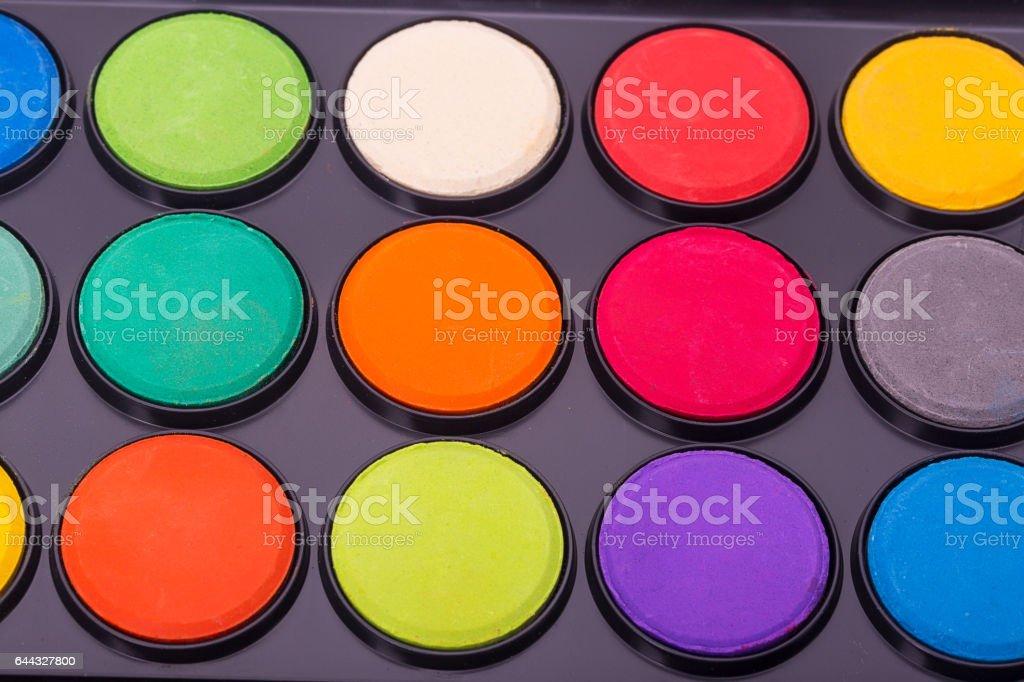 Paint watercolors pallet stock photo
