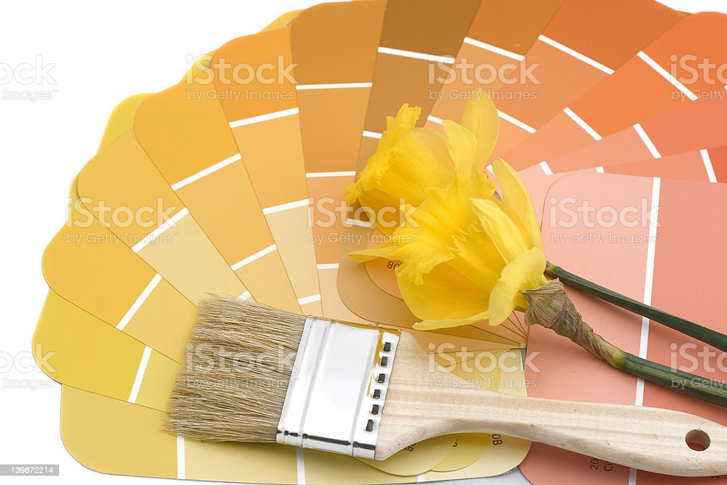paint your house spring colors royalty-free stock photo
