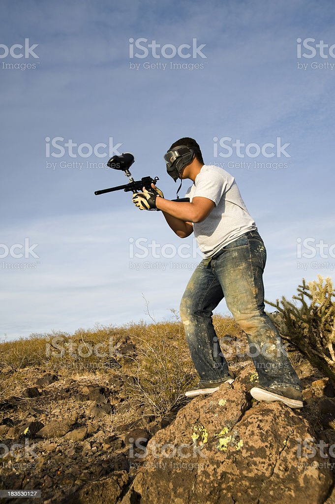 paintball action royalty-free stock photo