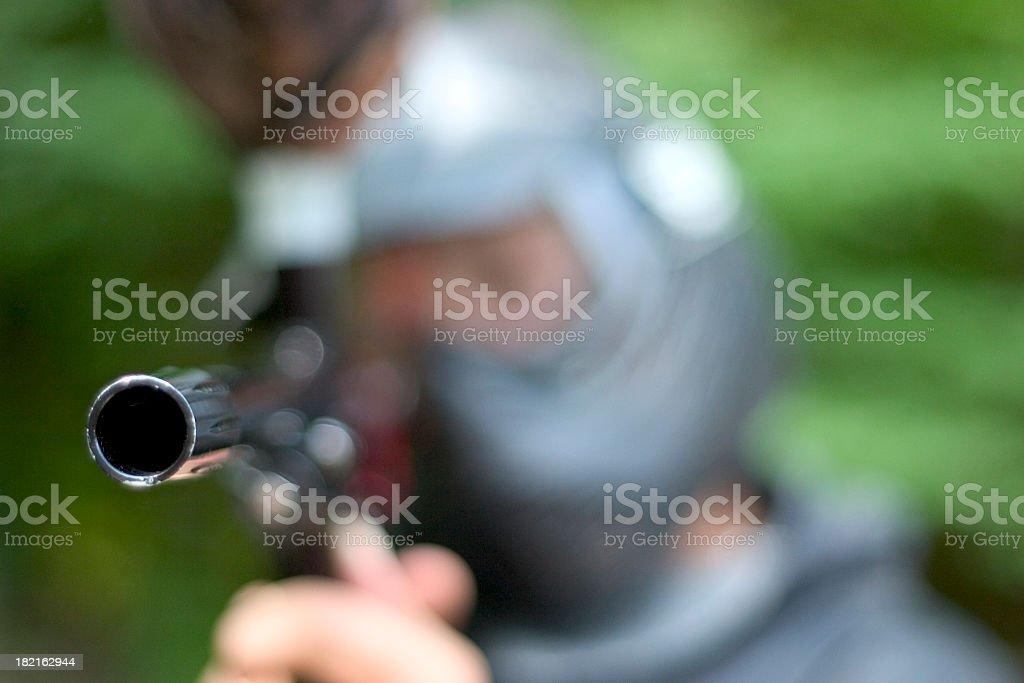 Paintball Gun Horizontal royalty-free stock photo