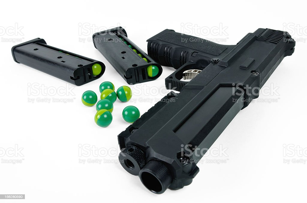 Paintball gun royalty-free stock photo