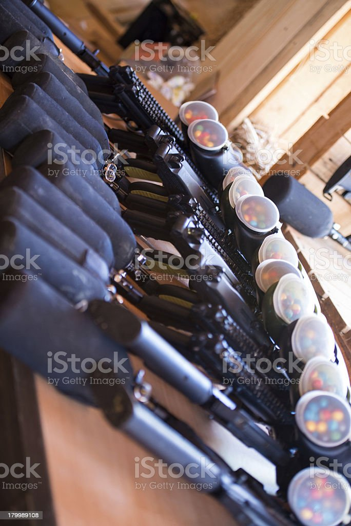 Paintball guns royalty-free stock photo