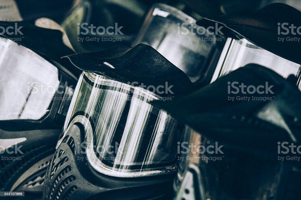 Paintball Masks stock photo