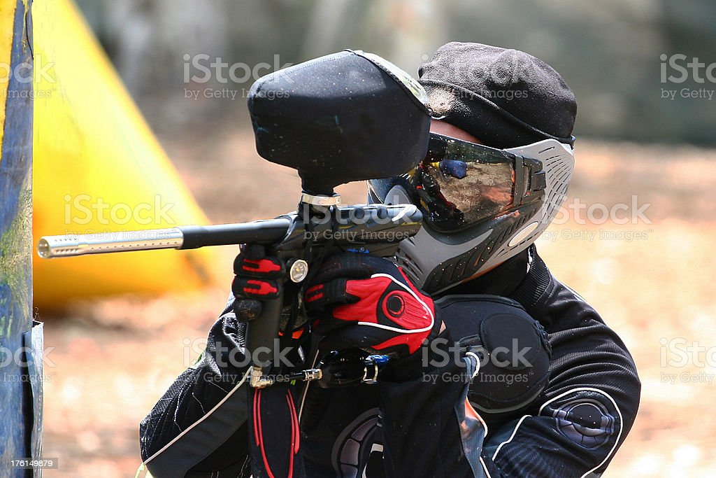 Paintball Player by bunker royalty-free stock photo