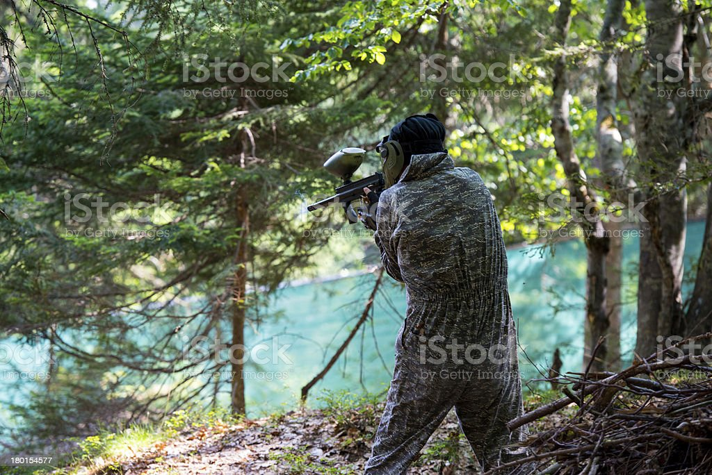 Paintball Shooter royalty-free stock photo