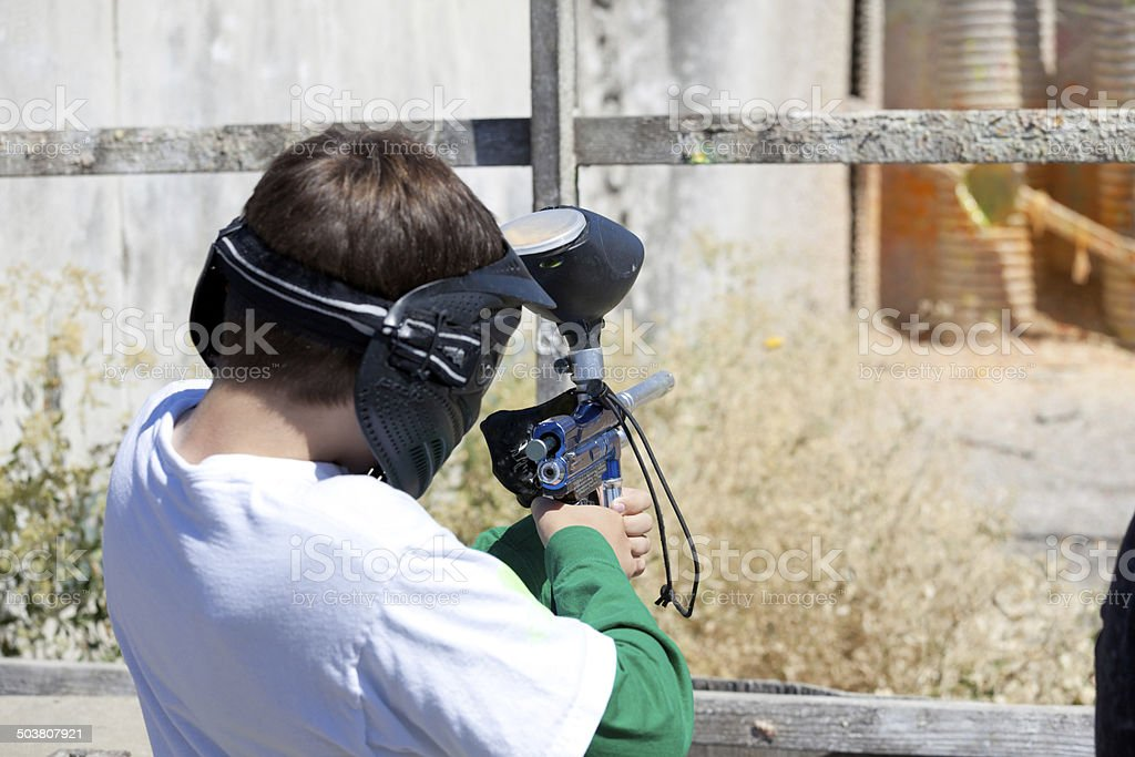 Paintball Shooting royalty-free stock photo