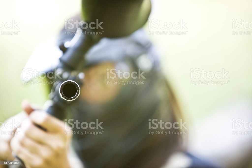Paintball shot royalty-free stock photo