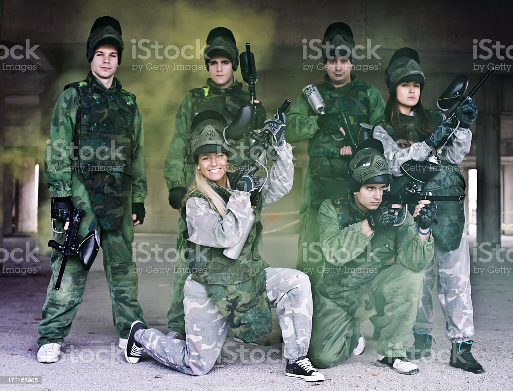Paintball team royalty-free stock photo