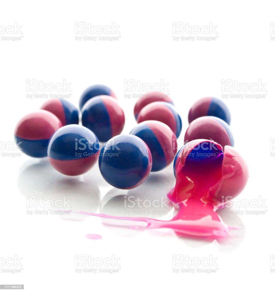 Paintballs stock photo