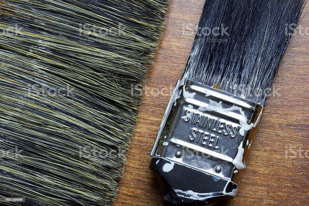 Paintbrush On Wood royalty-free stock photo