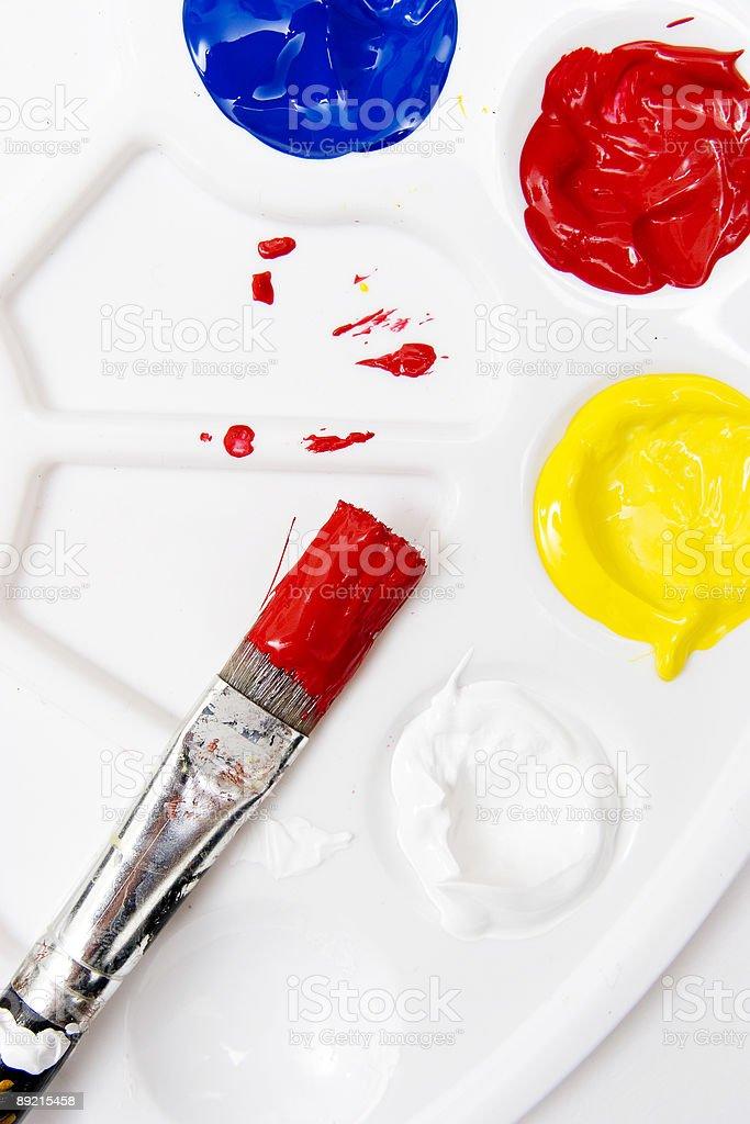 Paintbrush royalty-free stock photo