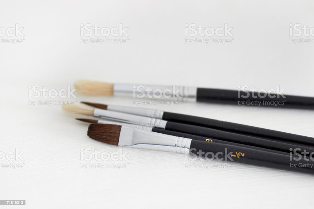 Paintbrushes in closeup royalty-free stock photo