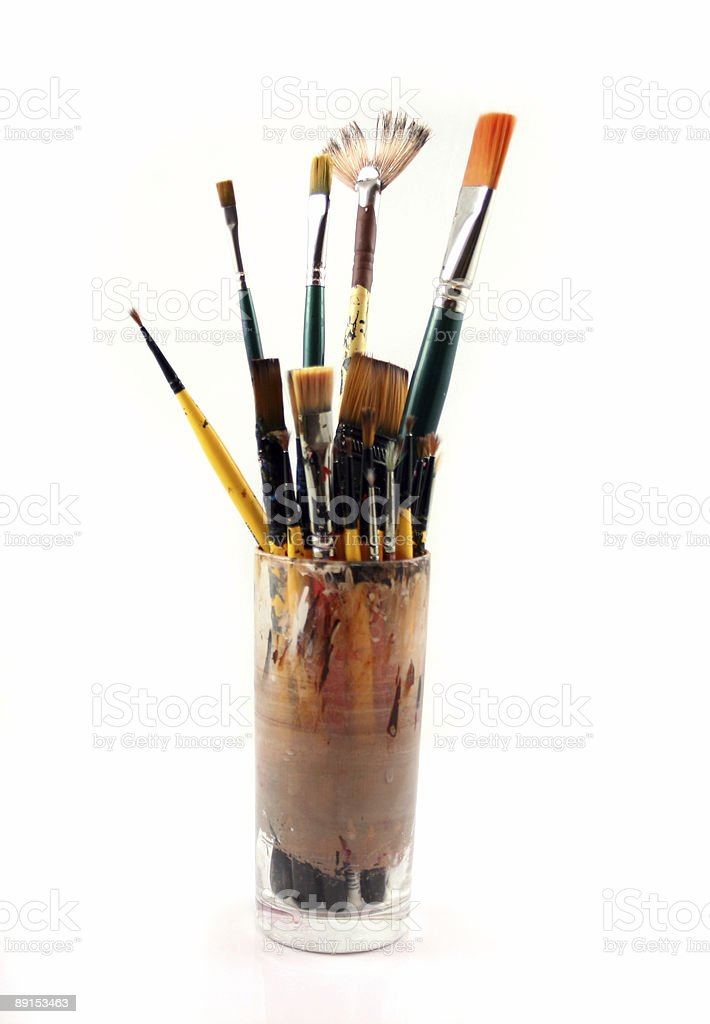 PaintBrushes on a white Background royalty-free stock photo