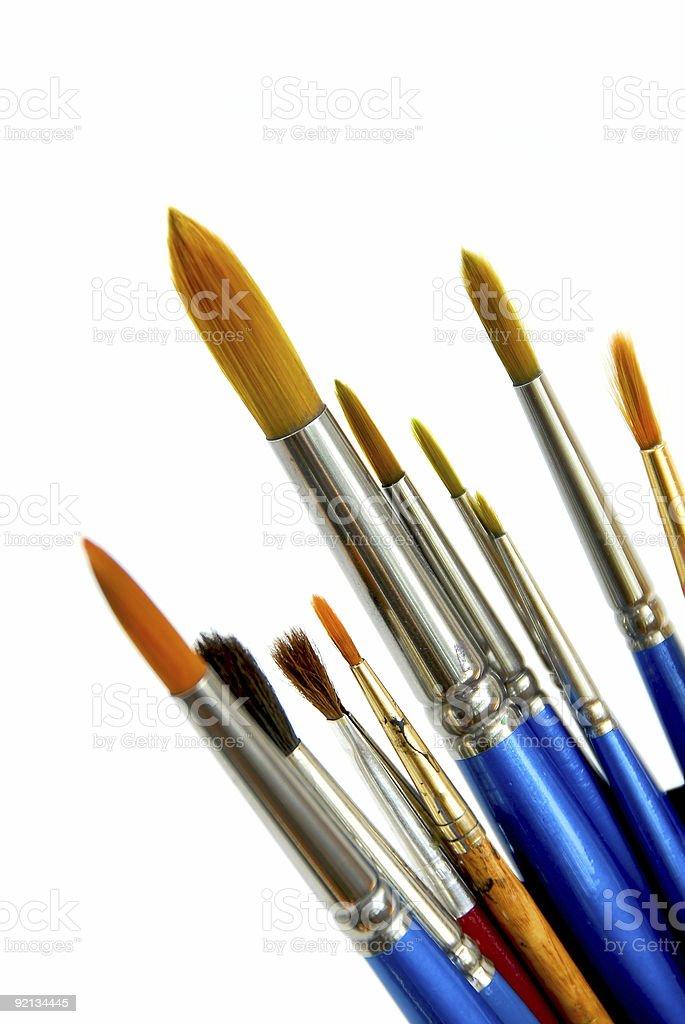 Paintbrushes on white royalty-free stock photo