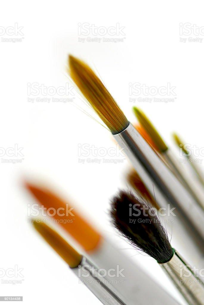 Paintbrushes royalty-free stock photo