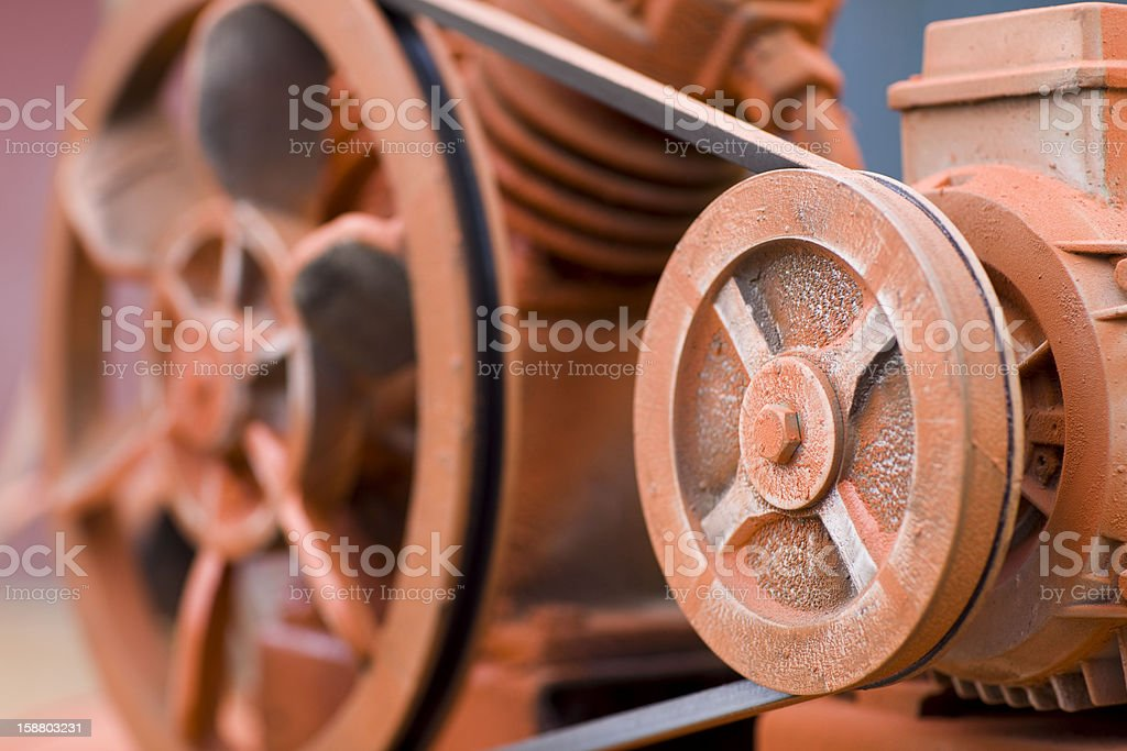 Painted Air Compressor stock photo