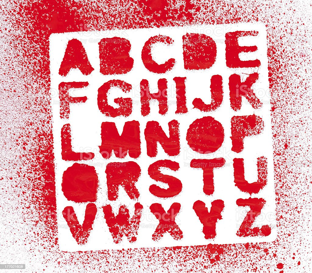 Painted Alphabet stock photo