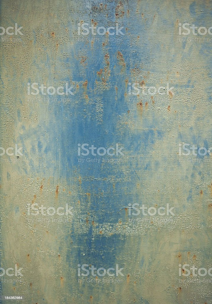 painted and rusty metal plate royalty-free stock photo