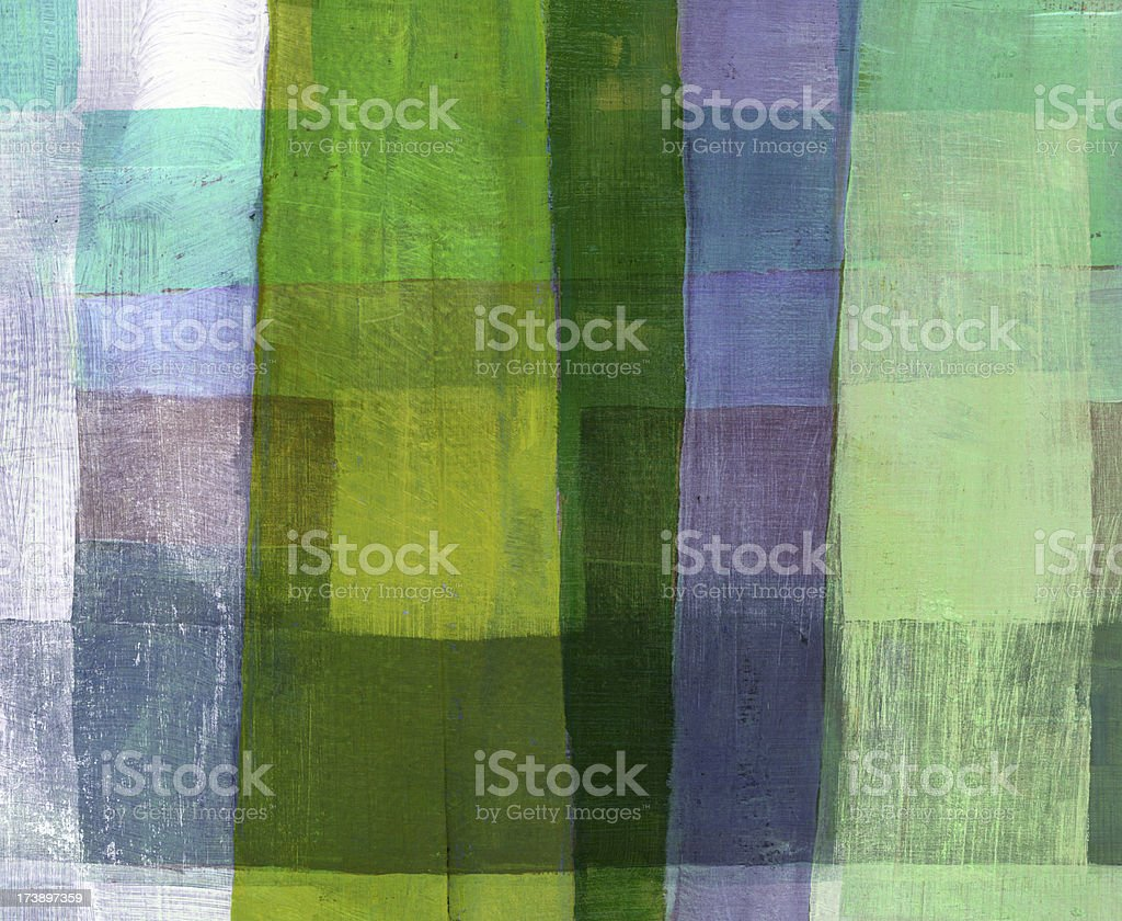 Painted artwork with Green Stripe royalty-free stock photo