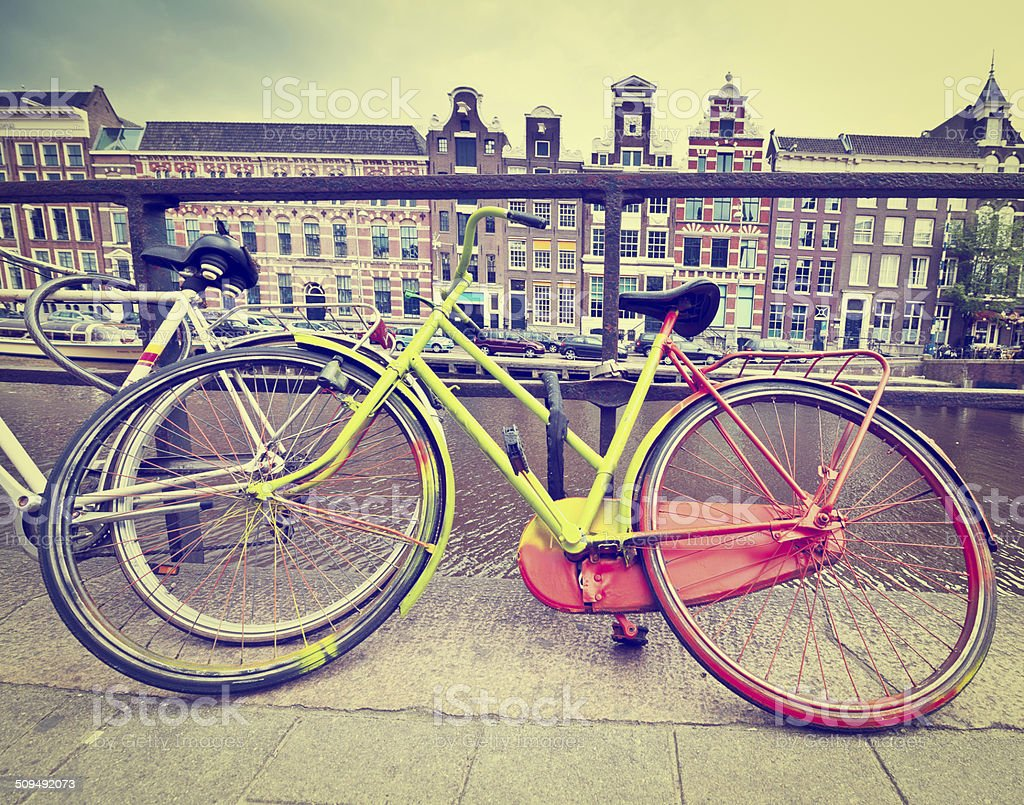 Painted Bicycle stock photo