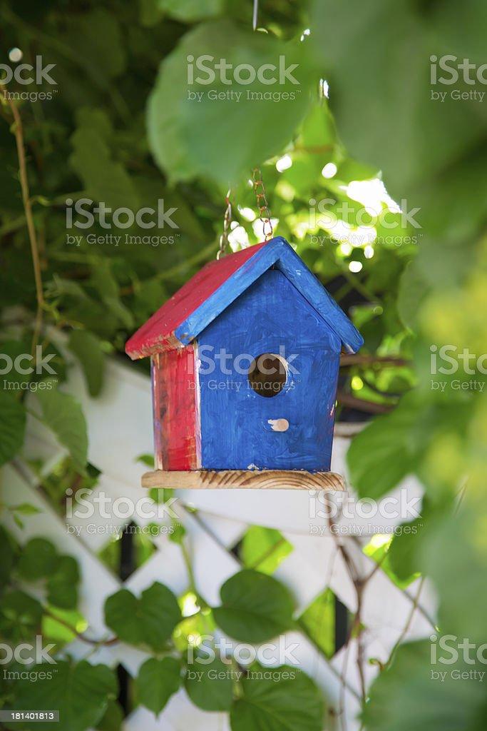 Painted birdhouse royalty-free stock photo