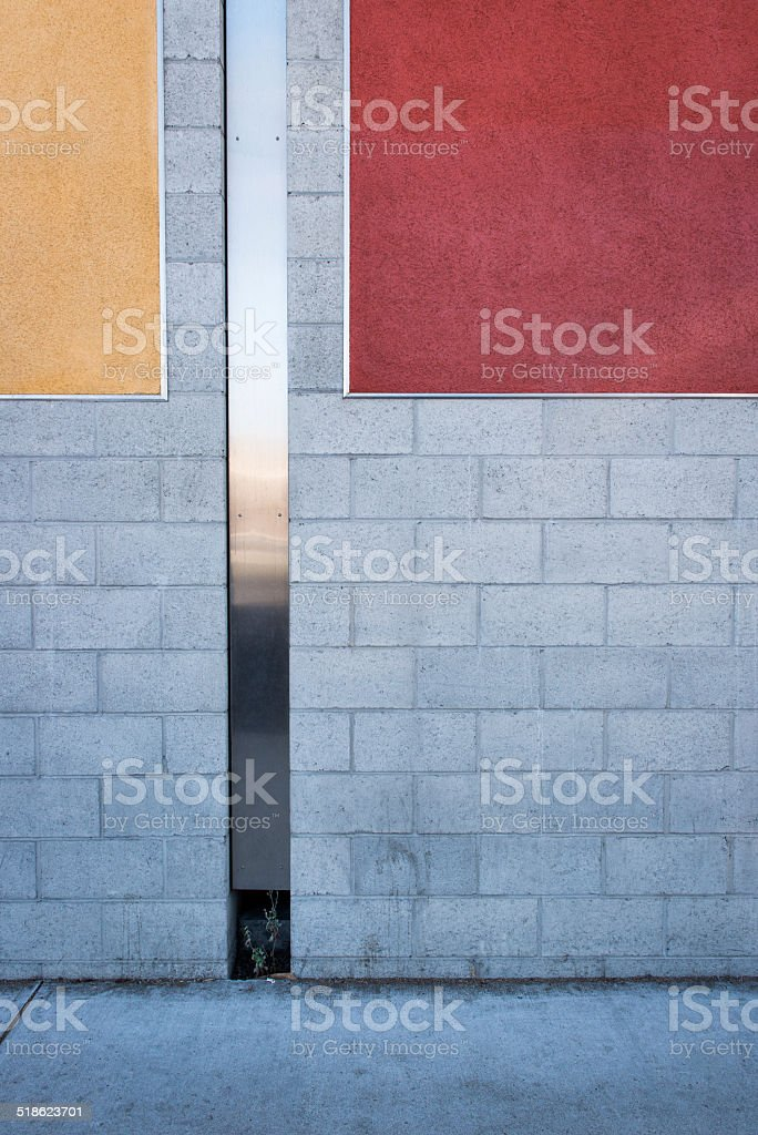 Painted Block And Stuco Wall Background stock photo