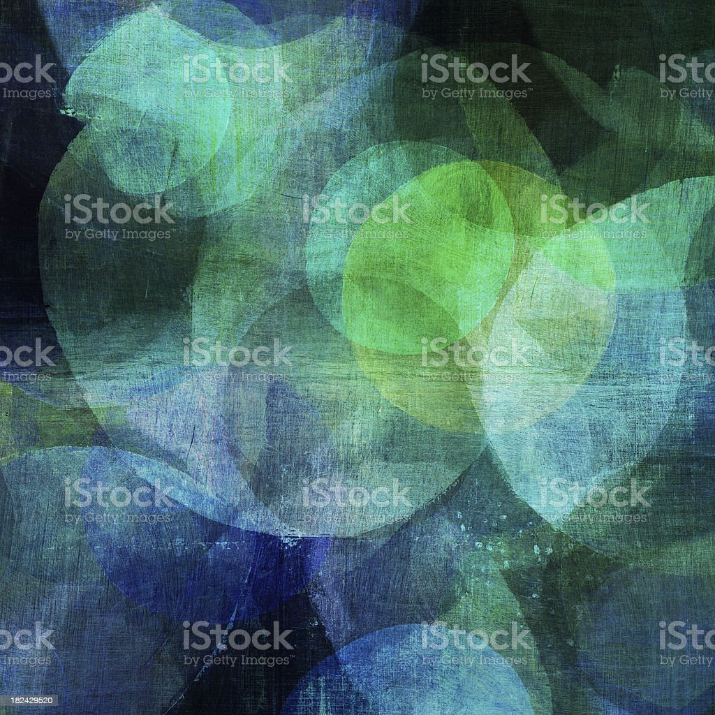 Painted Blue and Green Circles royalty-free stock photo