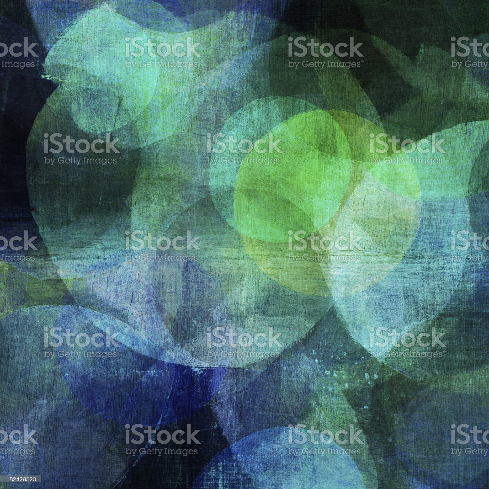 Painted Blue and Green Circles royalty-free stock vector art