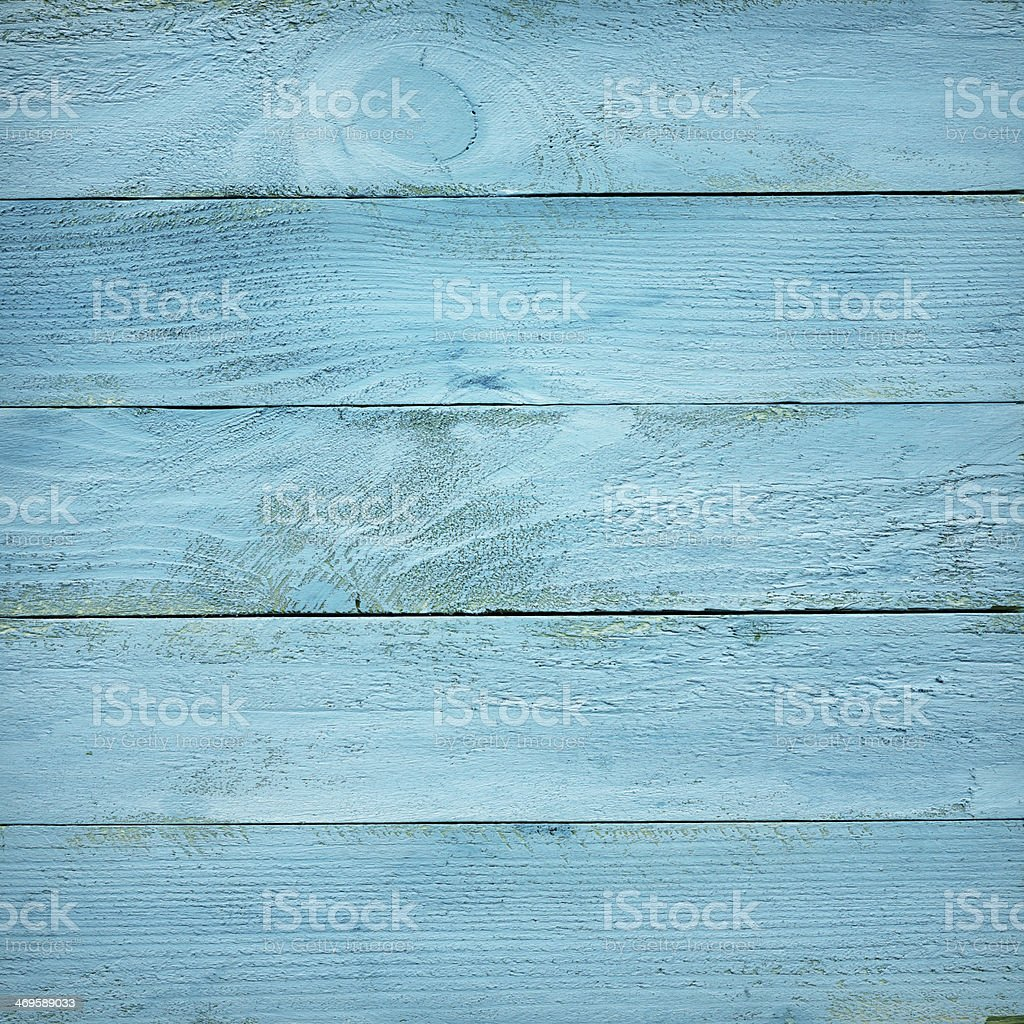 painted blue wooden planks texture stock photo