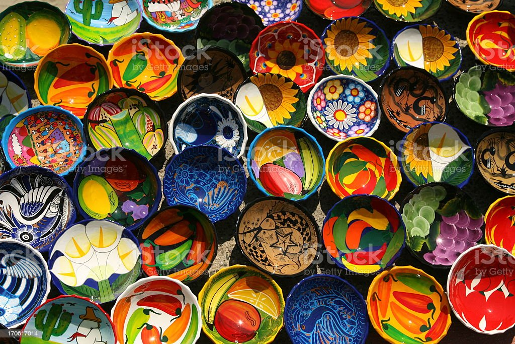 Painted Bowls royalty-free stock photo