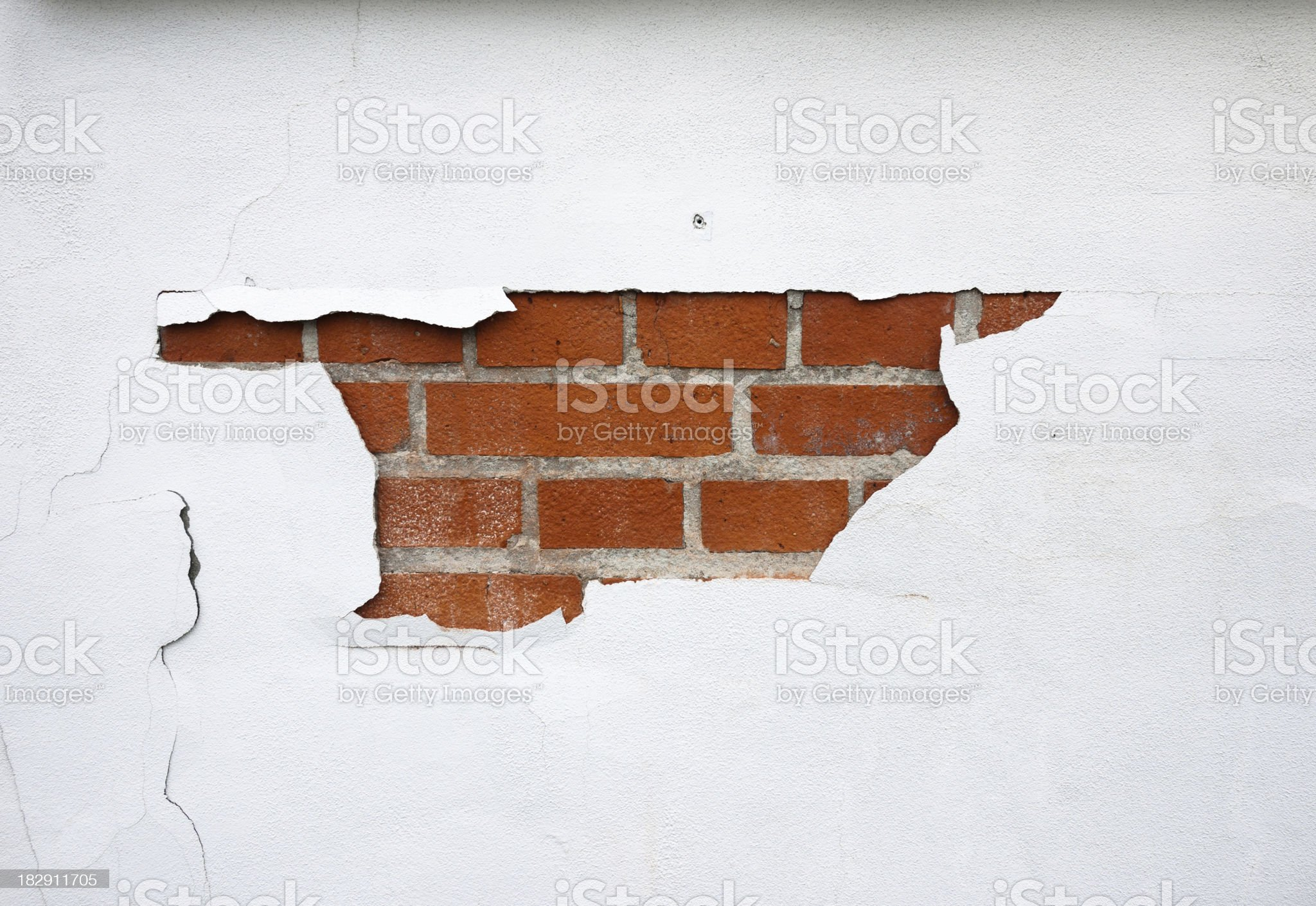 Painted brick wall royalty-free stock photo