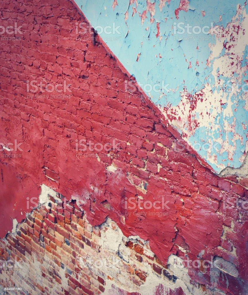 Painted brick wall stock photo