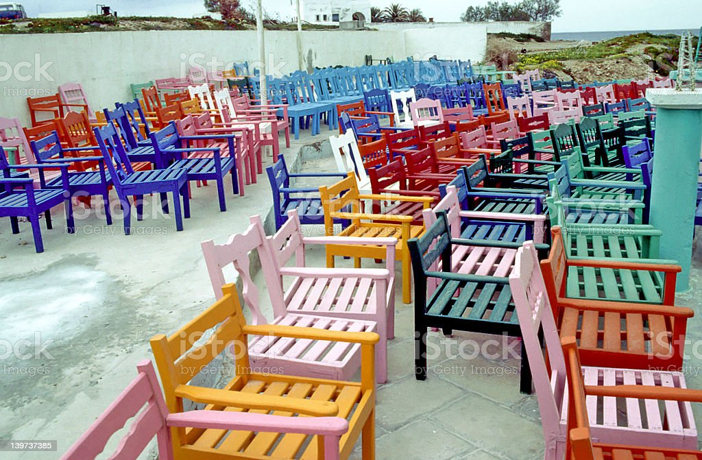 Painted Chairs royalty-free stock photo