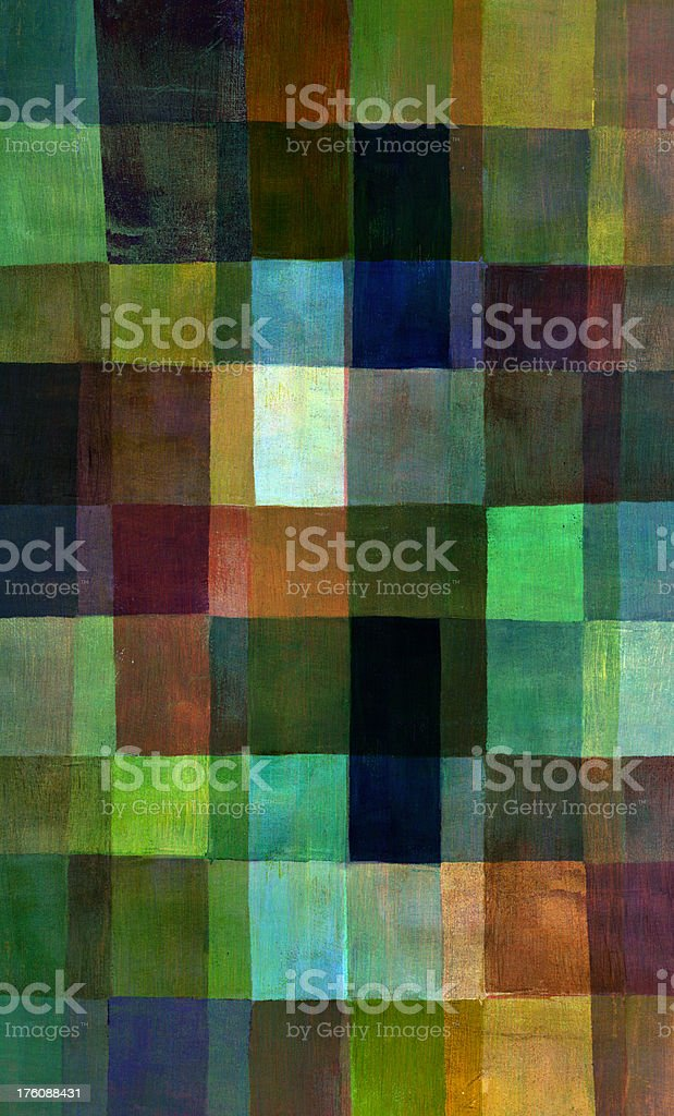 Painted Checked Pattern royalty-free stock photo