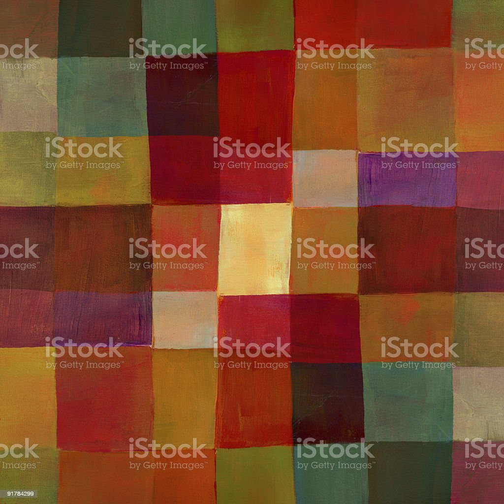 Painted Colorful Checked Pattern vector art illustration