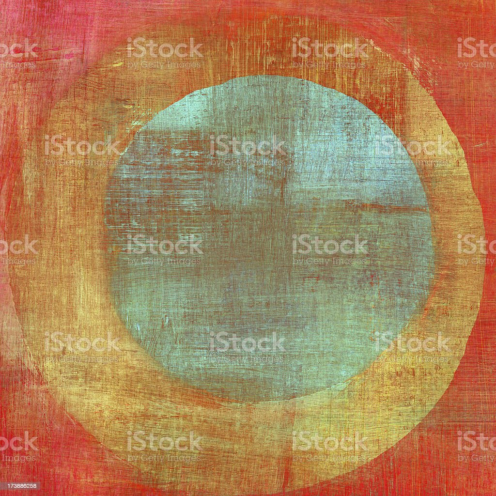 Painted Composition with Concentric Circles stock photo