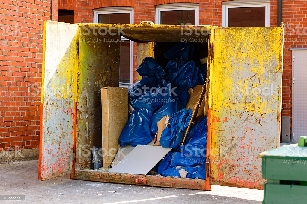 Painted container stock photo