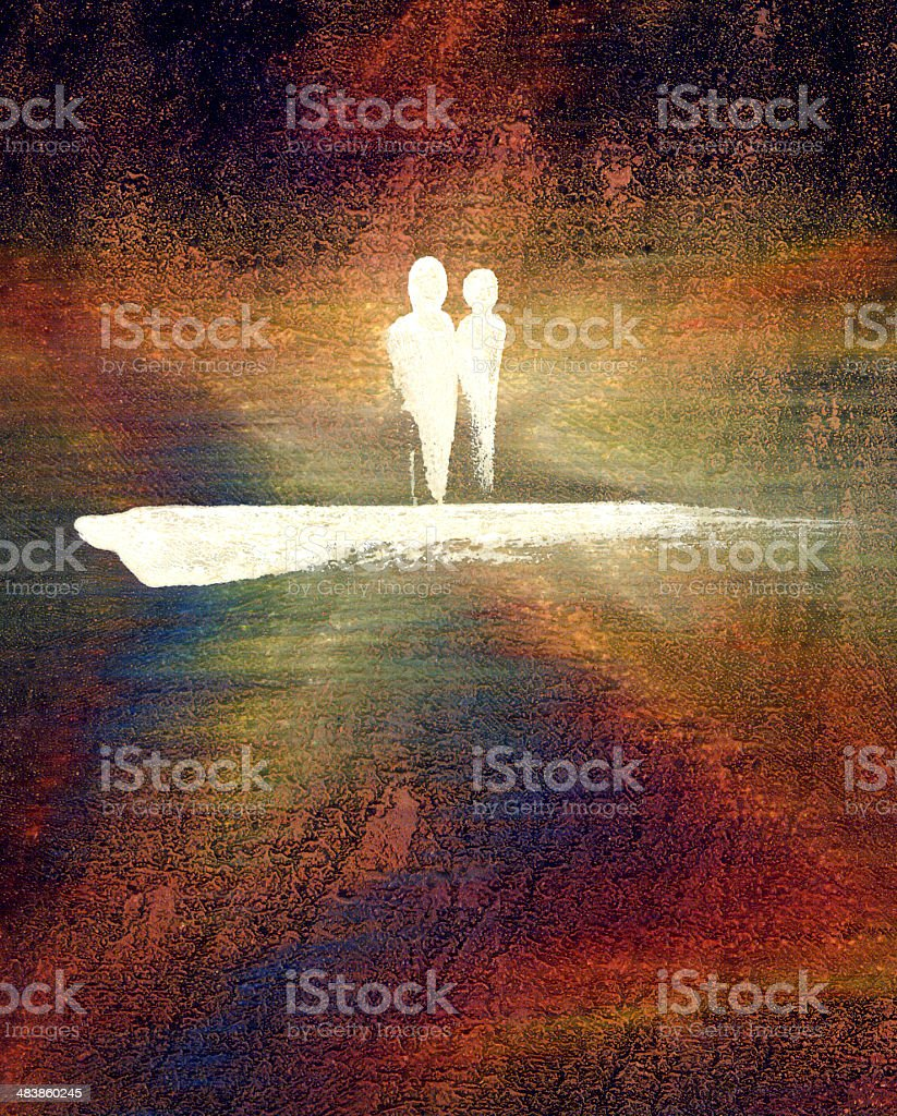 painted couple royalty-free stock photo