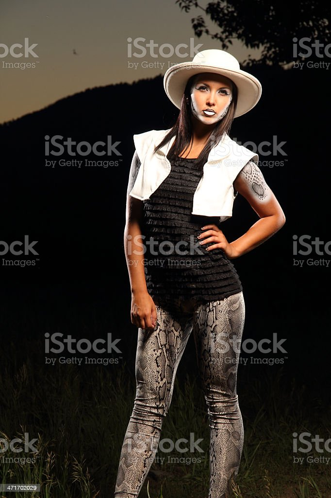 Painted Cowgirl royalty-free stock photo