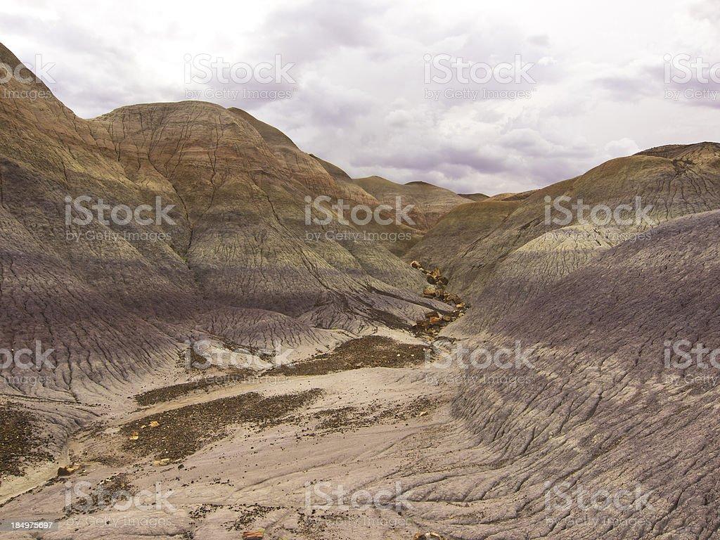 Painted desert detail stock photo