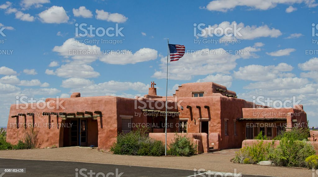 Painted Desert Inn at Petrified Forest National Park stock photo