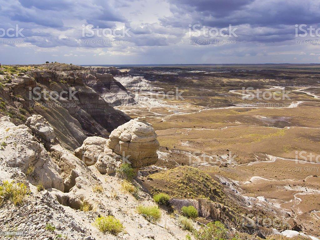 Painted desert stock photo