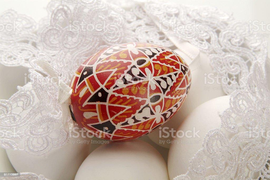 Окрашенные Пасхальное яйцо Стоковые фото Стоковая фотография
