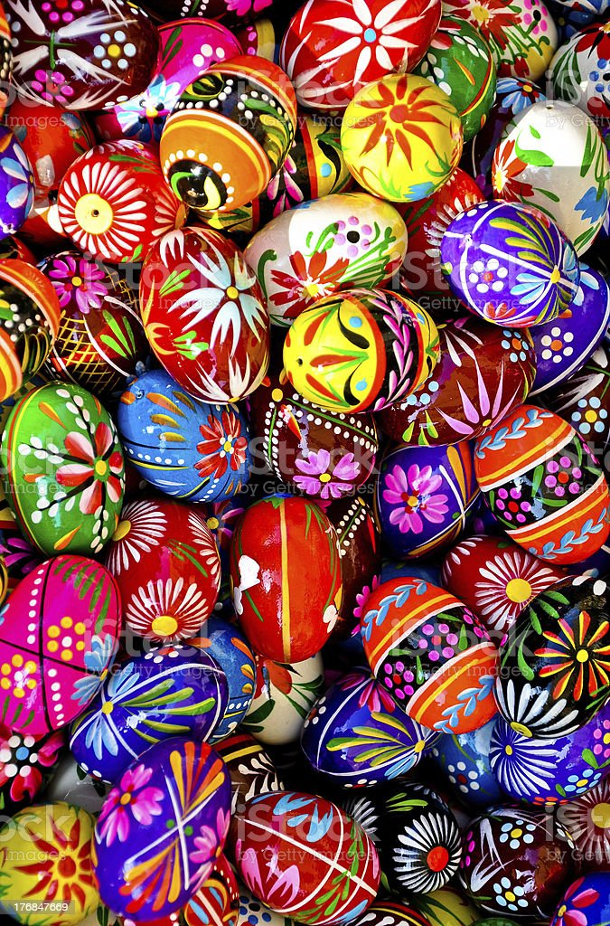 Painted Easter Eggs background royalty-free stock photo