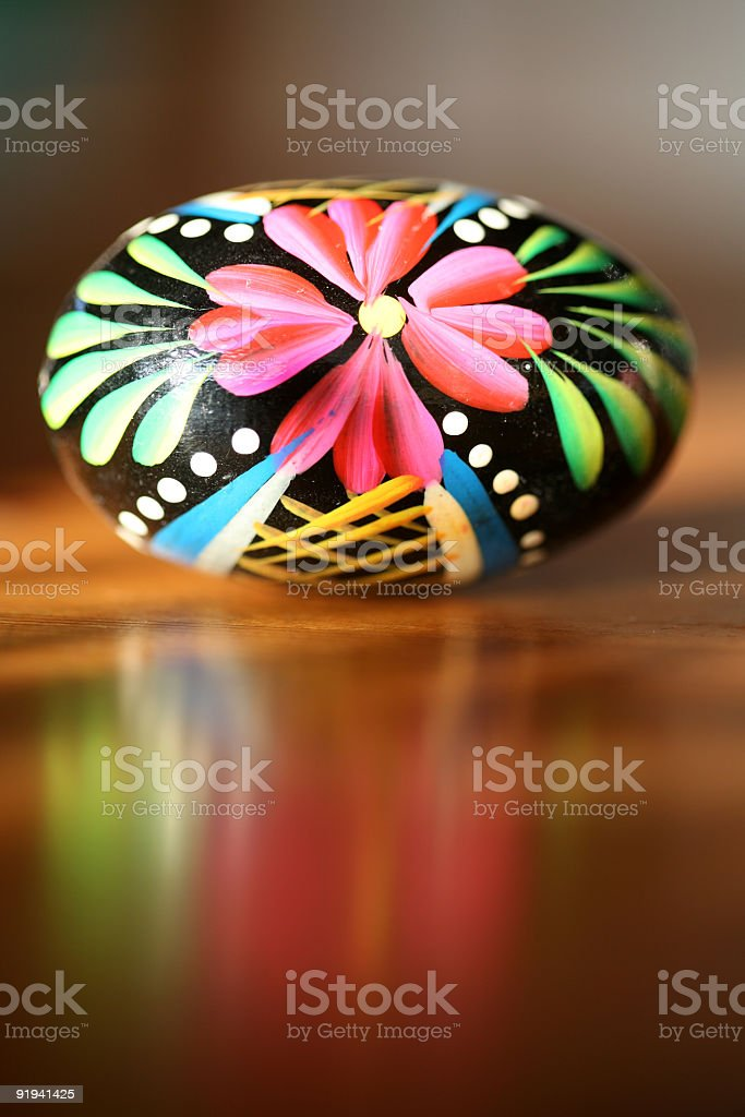 painted egg royalty-free stock photo