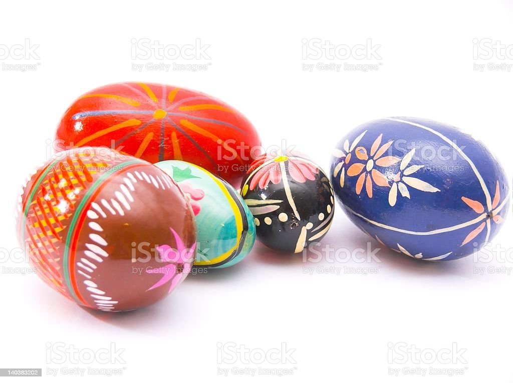 Painted eggs - traditional easter decoration royalty-free stock photo