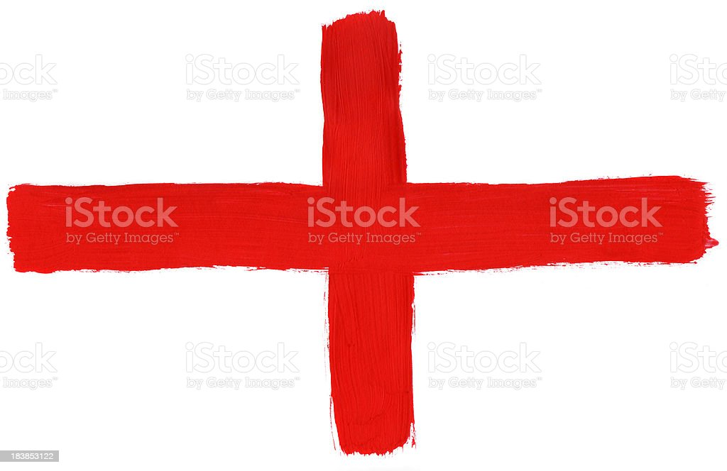 Painted England flag stock photo